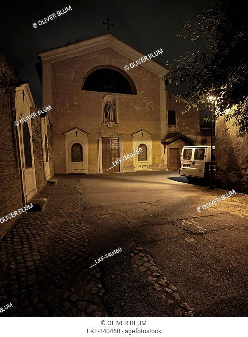 San Bonaventura al Palatino at night, Roma, Latium, Italy