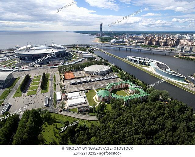 Football stadium Zenit-Arena in St. Perepberburg. Russia