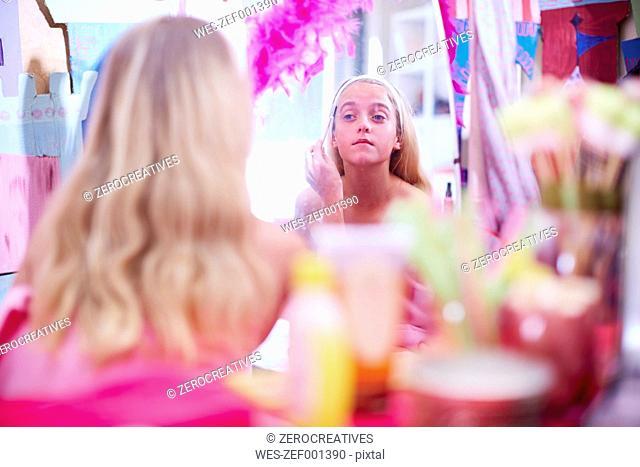 Girl on a beauty farm pampering herself