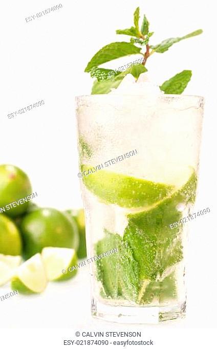 Mojito cocktail close up
