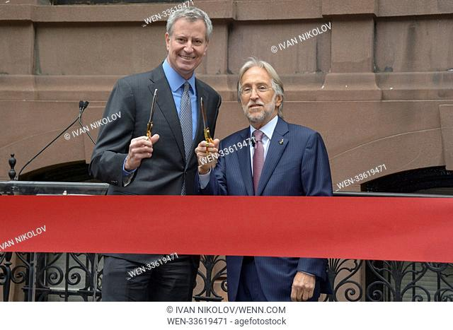 Recording Academy Future New York Offices Unveiling Ceremony Featuring: Bill De Blasio, Neil Portnow Where: New York, New York