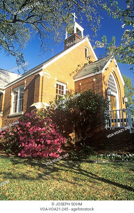 A spring day at the Brick Church in Southport North Carolina
