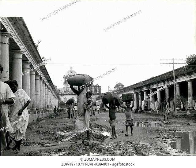 Jul. 11, 1971 - July 11th 1971 Refugees from East Pakistan. Photo Shows: Refugees from East Pakistan seeking shelter in the compound of the palace of Maharajah...