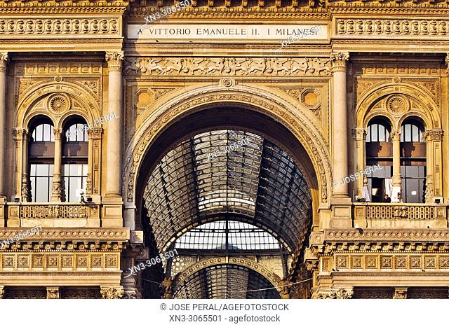 Galleria Vittorio Emanuele II, shopping mall, Piazza del Duomo, Milan, Lombardy, Italy, Europe