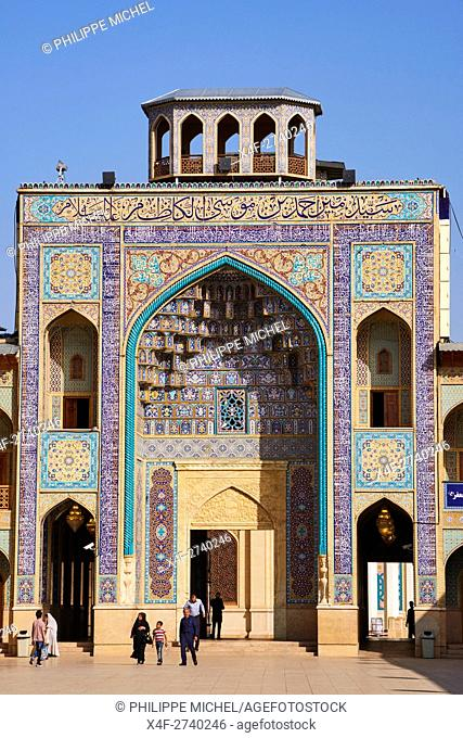 Iran, Fars Province, Shiraz, Shah Cheragh mausoleum