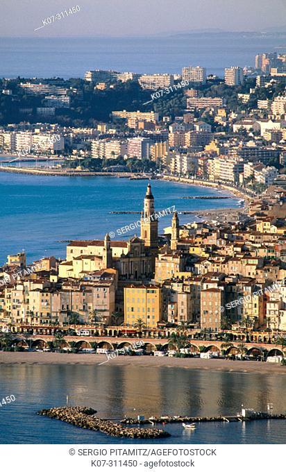 Menton. Côte d'Azur, France