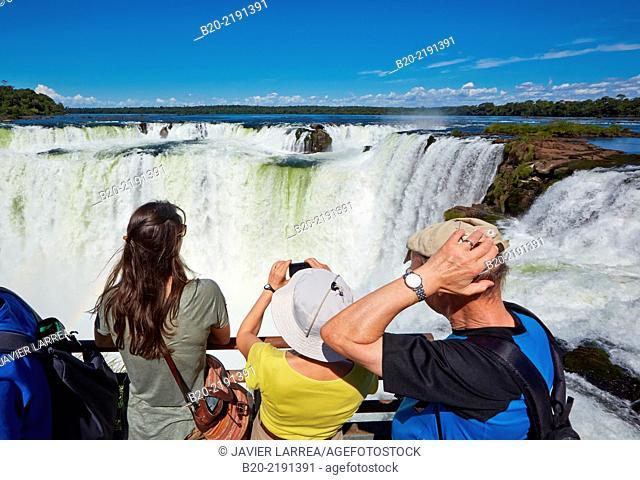 Iguazú Falls National Park. Misiones Argentina. Iguaçu. Paraná. Brasil