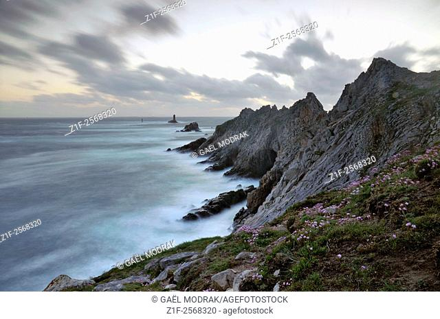 La Pointe du Raz, westest rocky point of Brittany and France