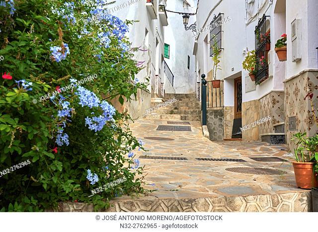 Competa. Axarquia, Traditional white town, Malaga province, Andalucia, Spain