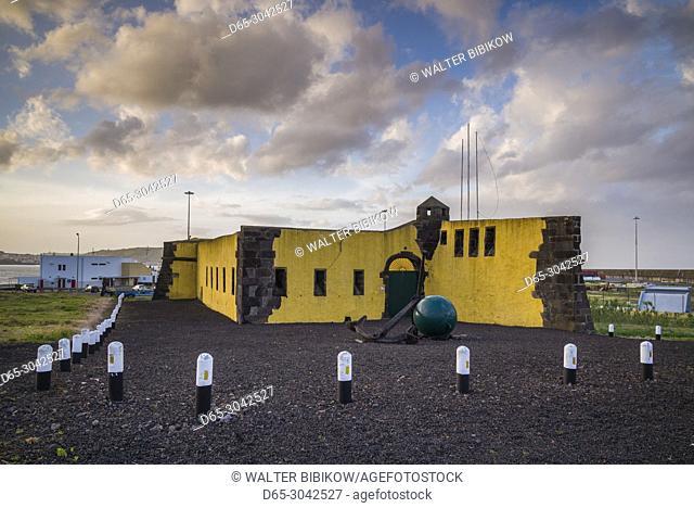 Portugal, Azores, Terceira Island, Praia da Vitoria, Forte de Santa Catarina fort