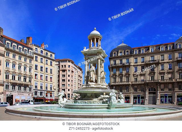 France, Rhône-Alpes, Lyon, Place des Jacobins
