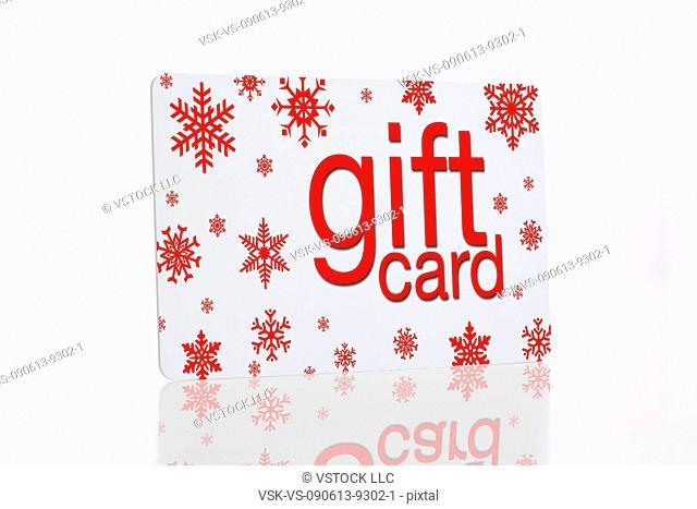 Studio shot of Christmas gift card