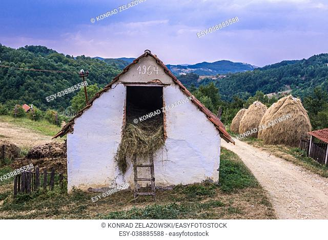 Small farm building between Guca town and Vuckovica village in Lucani municipality, Moravica District of Serbia
