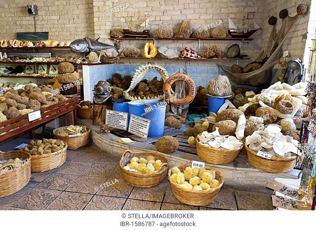Souvenir shop in the historic town of Limassol or Lemesos, Southern Cyprus, Greek Cyprus, Southern Europe
