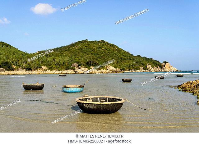 Vietnam, Ninh Thuan province, near Phan Rang, Nui Chua National Park, small fishing port near Can rang