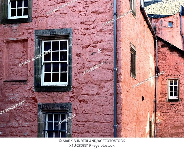 Architecture Detail at the Abbot House in Dunfermline Fife Scotland