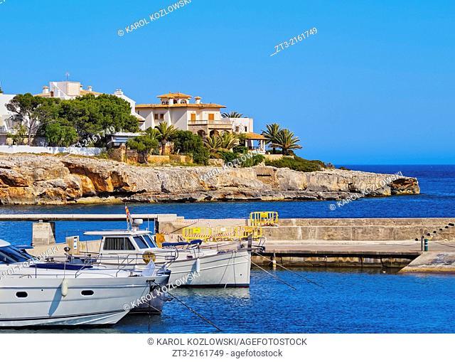 Harbour in Porto Cristo on Mallorca, Balearic Islands, Spain