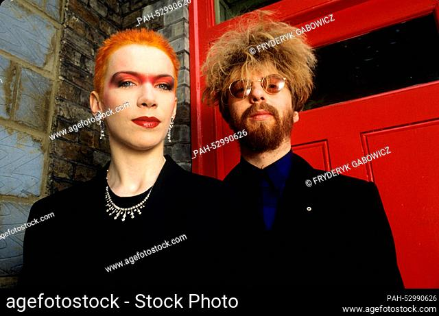 Annie Lennox, David A. Stewart (Eurythmics) on 03.06.1983 in London. | usage worldwide. - London/United Kingdom of Great Britain and Northern Ireland