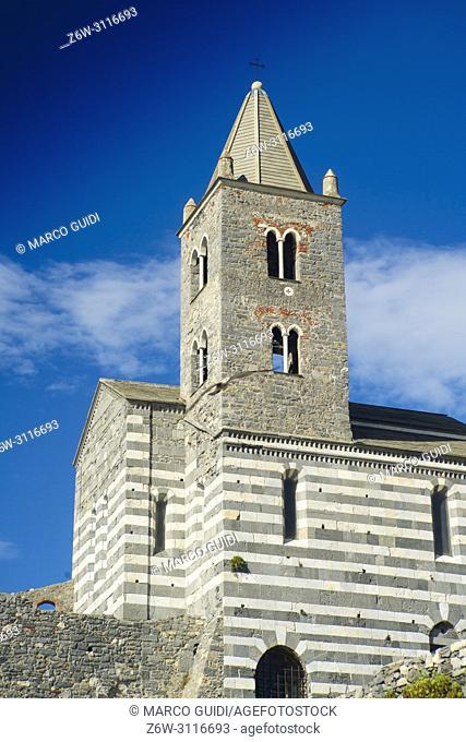 View of the church of San Pietro in Portovenere