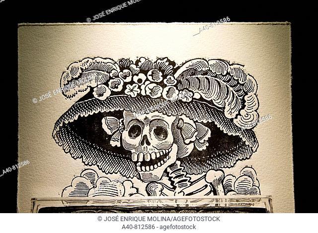 Mexico.Aguascalientes.Engraving of  Jose Guadalupe Posada (1852/1913).The Catrina