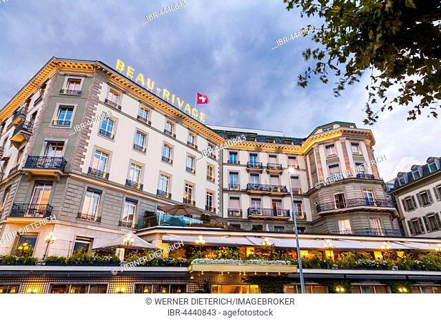 Hotel Beau-Rivage on Lake Geneva, luxury hotel, Geneva, Switzerland