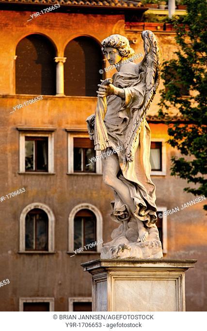 Angel statue along Ponte Sant Angelo, Rome Lazio, Italy