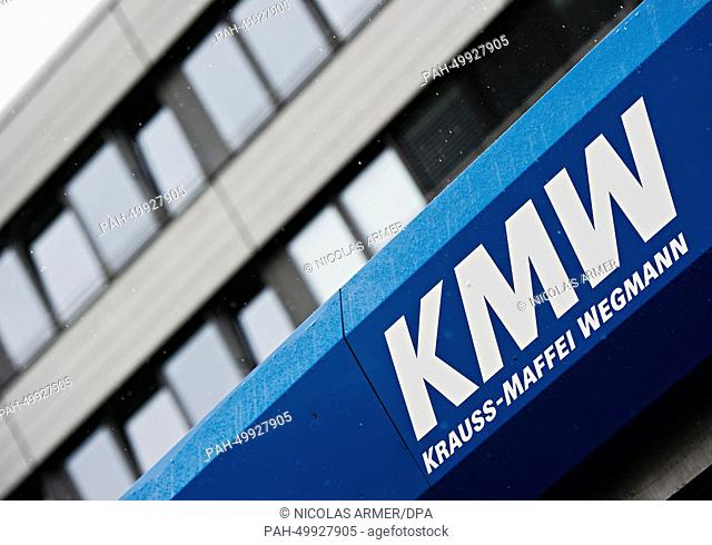 The writing KMW is pictured at the plant of the Krauss-Maffei-Wegmann GmbH & Co. KG in Munich, Germany, 02 July 2014. The German government plans to investigate...