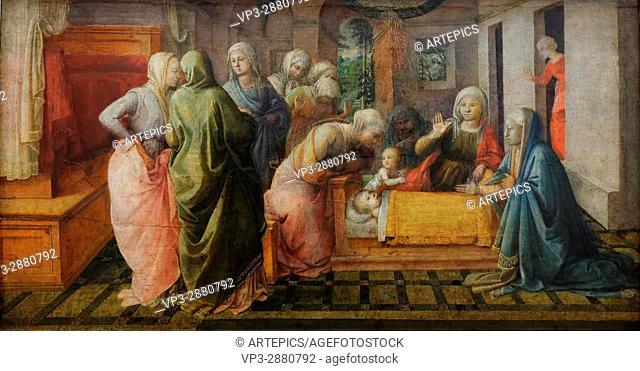 Fra Filippo Lippi - The wonders of the St. Bees. Ambrose - 1441 - XIX th Century - Italian School - Gemäldegalerie - Berlin