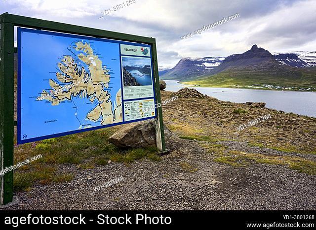 Trod scenic lookout. Westfjords. Iceland