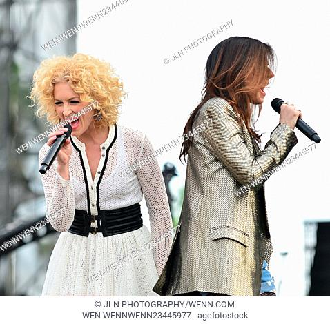 1st annual Kiss 99.9 Chilli Cookoff at CB Smith Park Featuring: Kimberly Roads Schlapman, Karen Fairchil of Little Big Town Where: PEMBROKE PINES, Florida