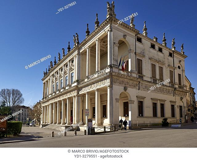 Vicenza, Veneto, Italy. The Palazzo Chiericati is a Renaissance palace in Vicenza (northern Italy), designed by Andrea Palladio