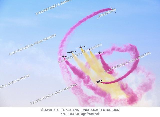 Patrulla Aguila, Airshow in the Airport of Lleida-Alguaire, Festa del Cel 2017, Lleida, Spain