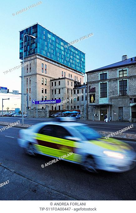 Europe, Estonia, Tallinn, the Fahle Building in Tartu Road