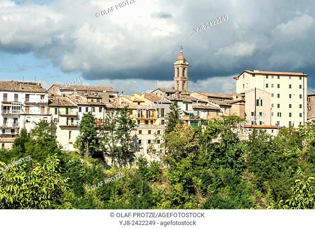 View at the old town of Sassocorvaro, Umbria, Italy