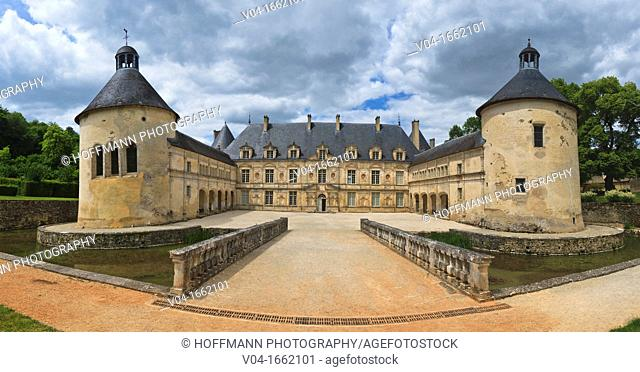 The picturesque castle of Bussy-Rabutin, Burgundy, France, Europe