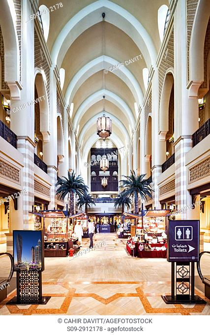 Interior of the Souk Al Bahar, Business Bay, Dubai, The United Arab Emirates
