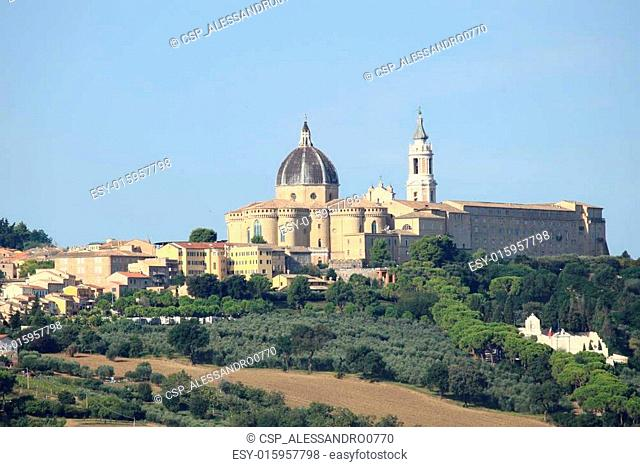 Landscape view of the Shrine of Loreto, Italy