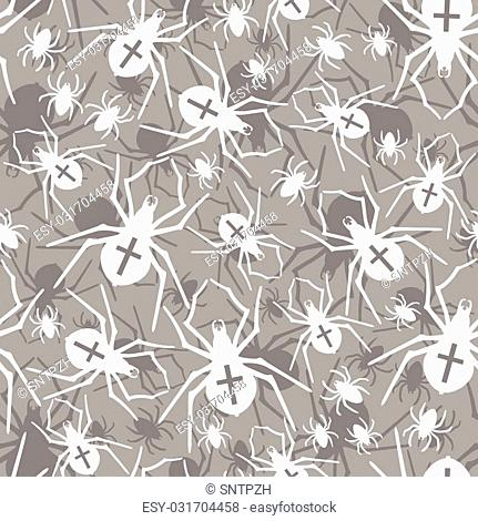 Vector spiders seamless pattern. Vector illustration