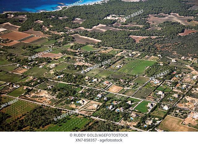 Spain, Balearic Islands, Mallorca, Ses Salines, Paisaje agricola