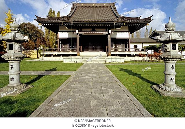 Japanese temple, center for japenese culture, Niederkassel, Duesseldorf, North Rhine-Westphalia, Germany