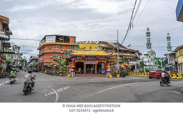 Singkawang street scene, West Kalimantan, Indonesia