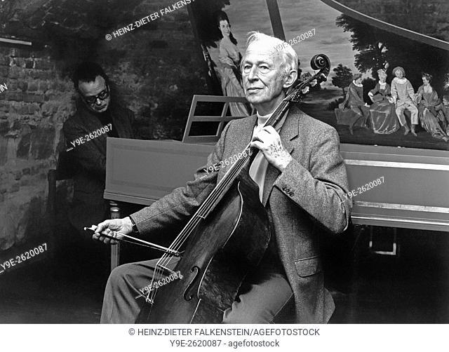 August Wenzinger, 1905-1996, a cellist, viol player, conductor, teacher, and music scholar from Basel, Switzerland, August Wenzinger, 1905-1996
