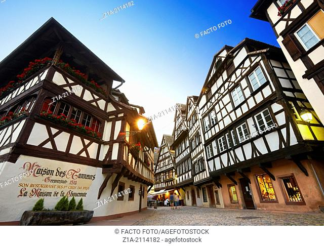 """""""Maison des tanneurs"""" at the Petite France district. Strasbourg. Bas-Rhin. Alsace. France"