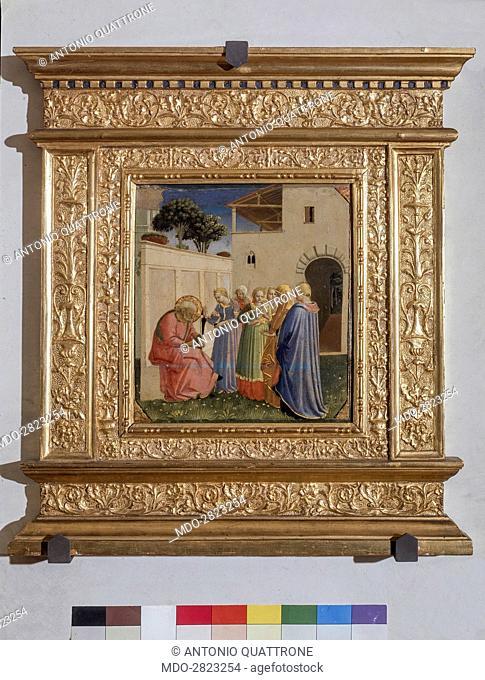 The Birth of John the Baptist (Imposizione del nome al Battista), by Fra Angelico (Beato Angelico), 1428-1430, 15th Century, tempera on board, 26 x 24 cm
