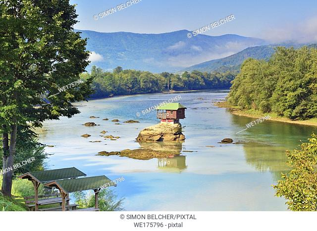 House on the River Drina, Bajina Basta, Serbia