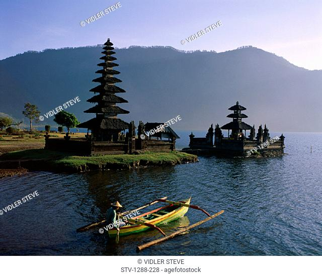 Alone, Bali, Asia, Bedugul, Beratan, Boat, Boating, Butterfly, Fisherman, Fishing, Holiday, Indonesia, Isolate, Isolated, Isolat