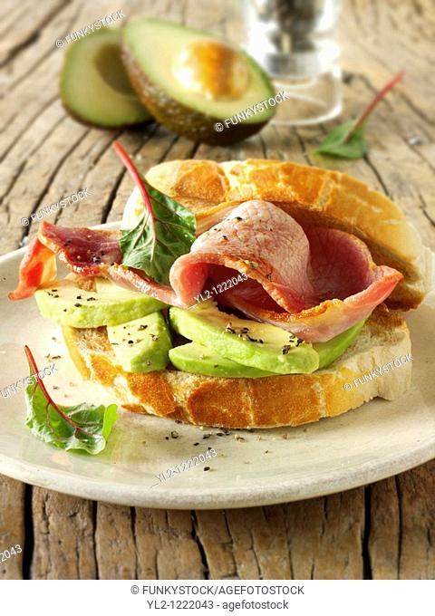 Bacon and avocado sandwich