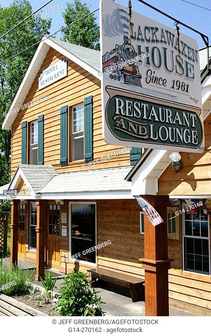 Lackawaxen House & Restaurant. Pocono Mountains. Pennsylvania. USA