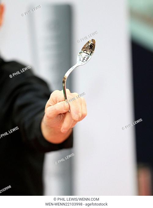 Uri Geller hosts a spoon bending master-class as well as sharing the secrets behind his ability to bend spoons, Uri will be attempting to bend his one millionth...