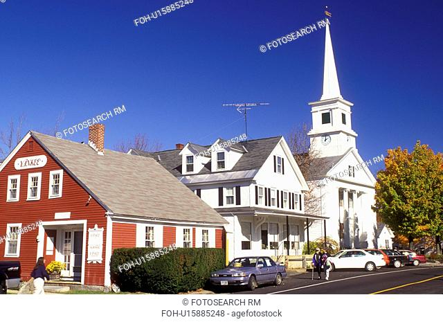 Dublin, NH, New Hampshire, Community Church in the town of Dublin in the autumn
